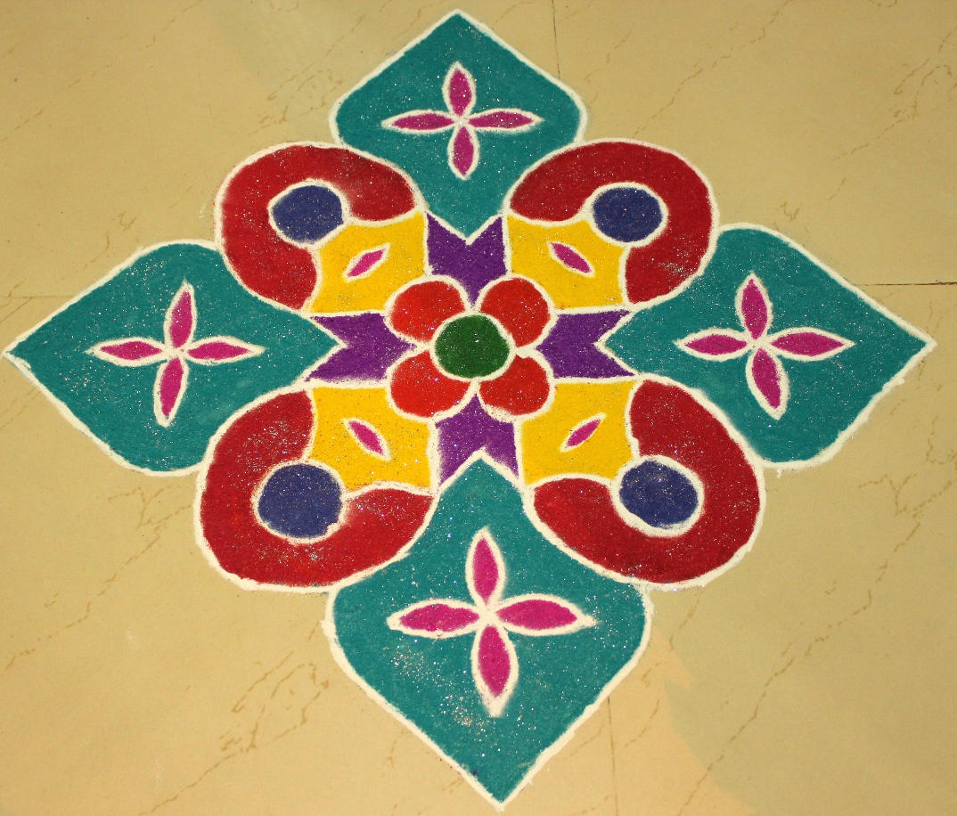 Simple Diwali Rangoli