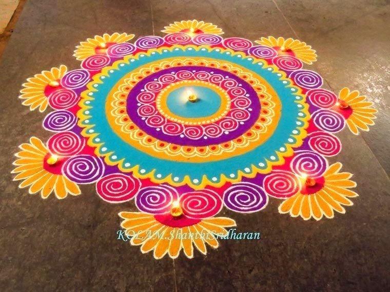 Rangoli Designs For Diwali Latest