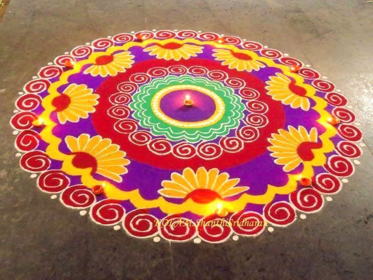 the gallery for gt prize winning rangoli designs with theme