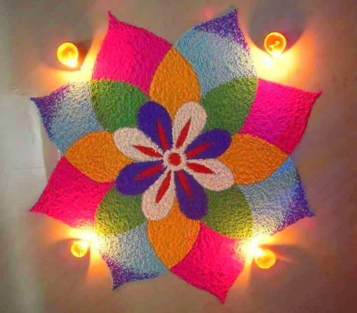Small Rangoli Designs For Diwali