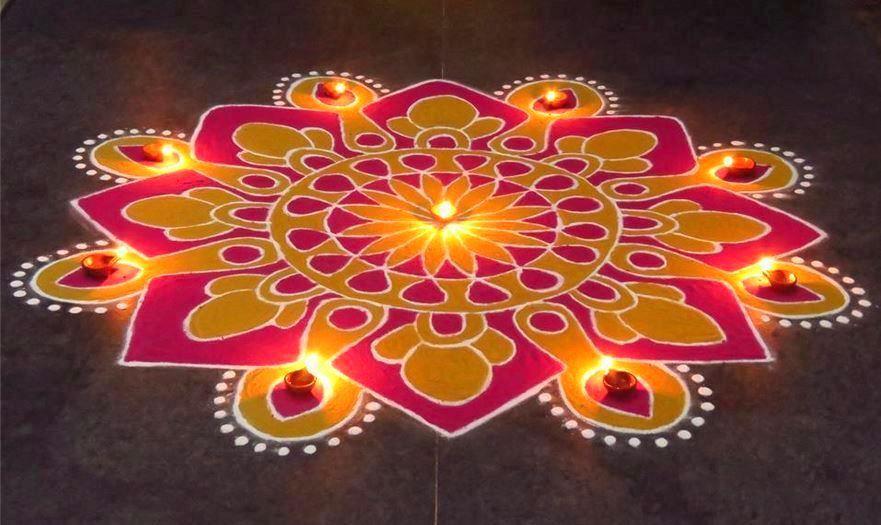 Rangoli Designs For Diwali Festival