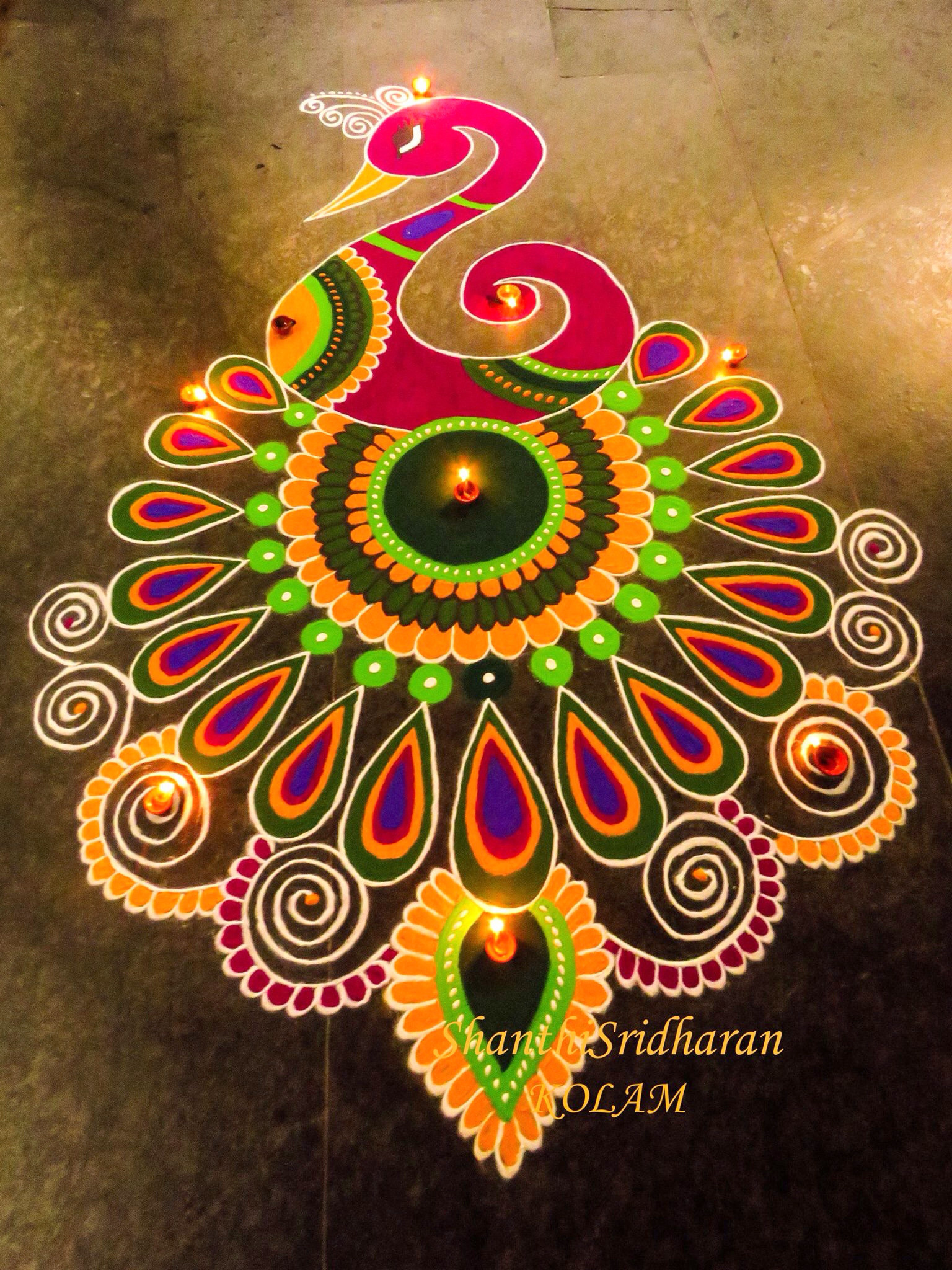 Award Winning Rangoli Designs for Diwali with Diya  for peacock rangoli designs for diwali free hand  59dqh