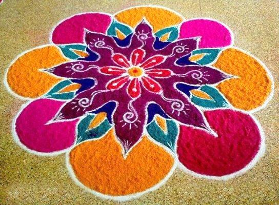 Beautiful Designs Of Rangoli For Diwali