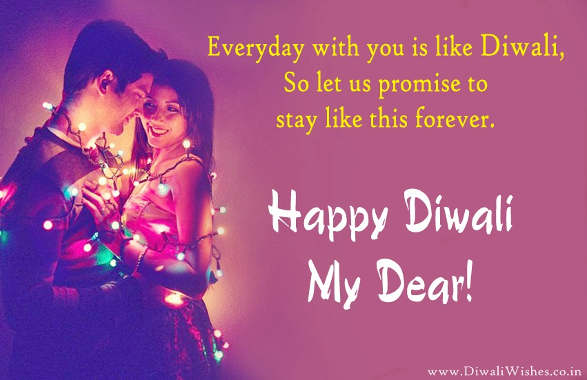 Romantic Diwali Greeting for Lover, Husband Wife, BF GF