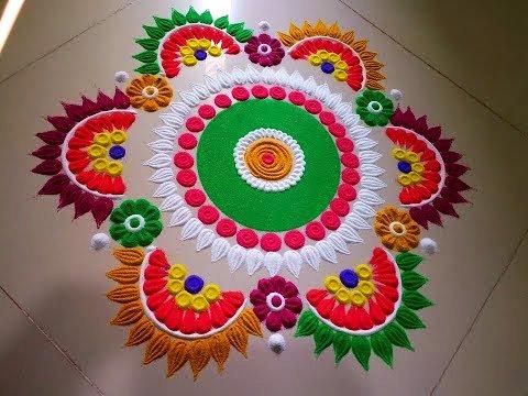 हैप्पी दीपावली रंगोली डिज़ाइन