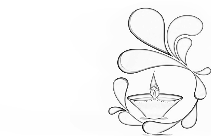 Beautiful Diya Colouring Pages