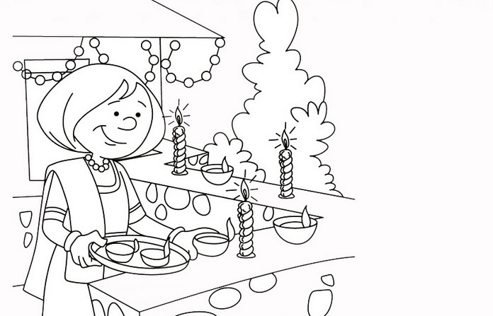 Deepawali Coloring Pages