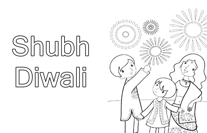 Diwali Festival Colouring Sheets