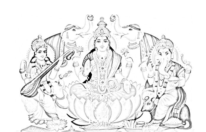 Diwali God Coloring Page