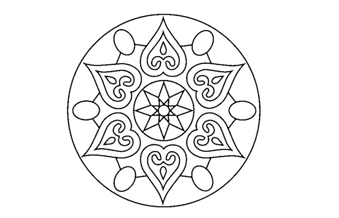 Diwali Rangoli Design to Print