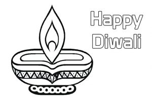 Happy Diwali Coloring Pages Diwali Wishes