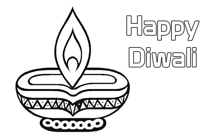 Happy Diwali Coloring Pages