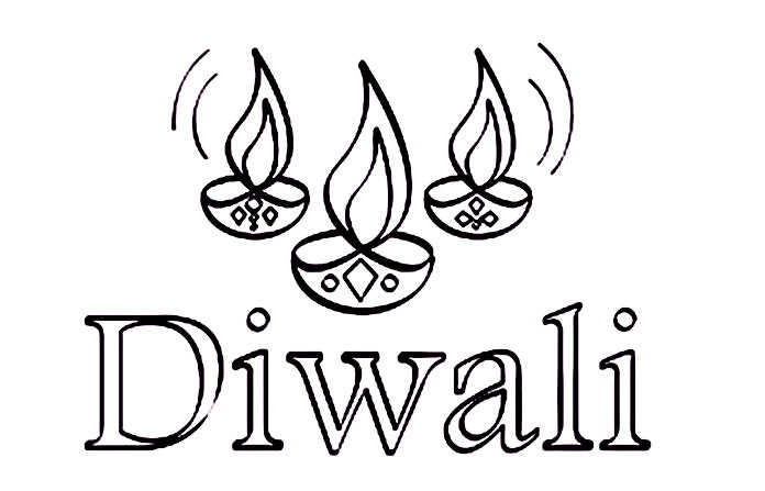 Happy Diwali Coloring Worksheets