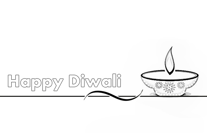 Happy Diwali Colouring Pages for Filling