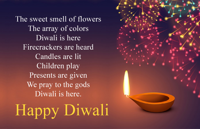 Happy Diwali Poems in English for Kids & Children, Short Deepavali