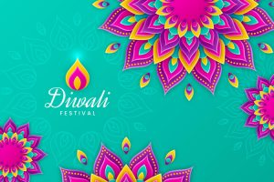 Diwali Festival Simple Sober Wallpaper Greeting